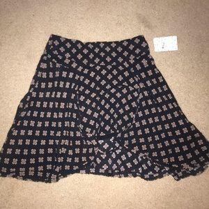 New York Hi-Lo black pattern Mini skirt